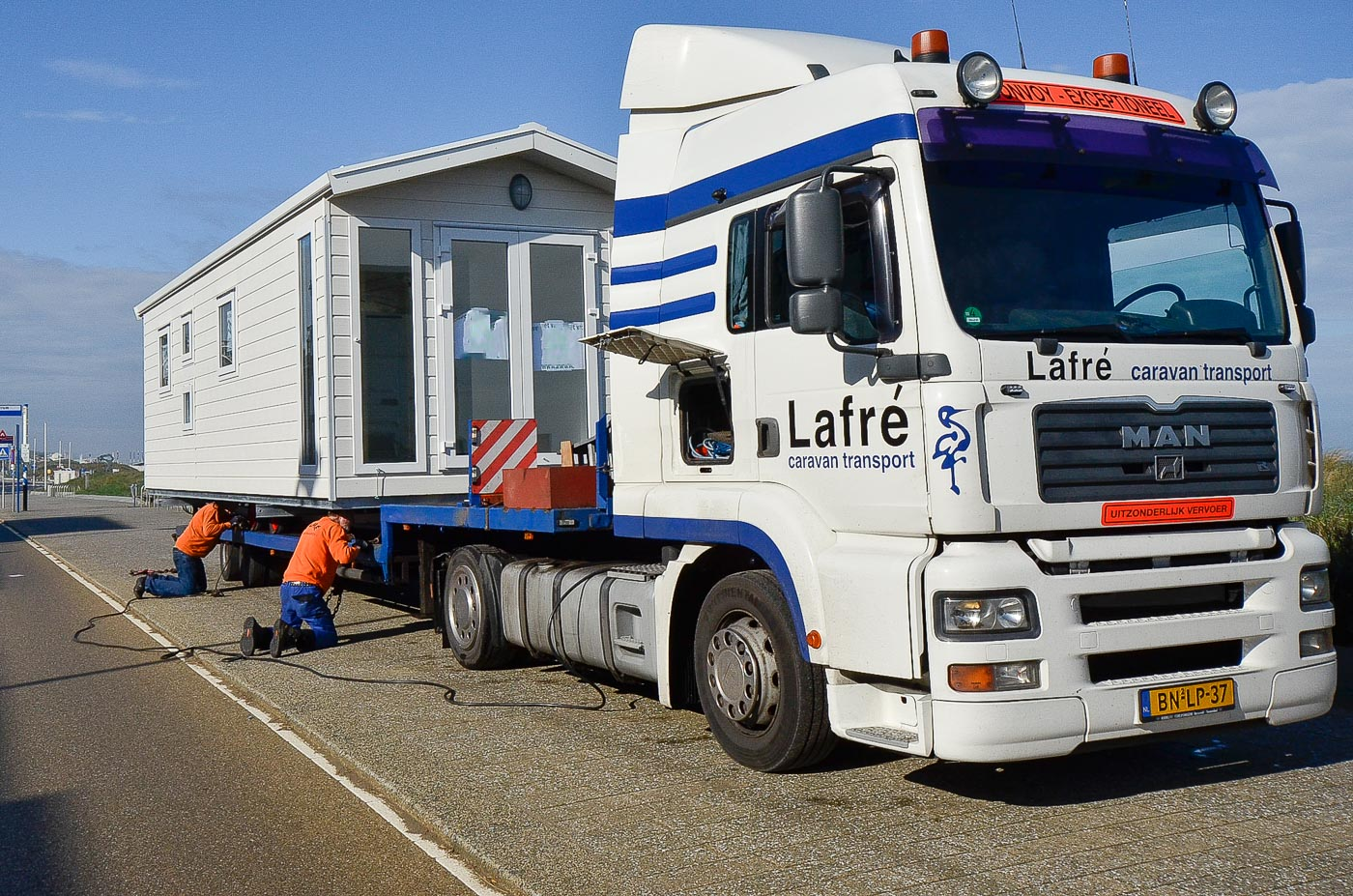 Chaletbouw Goeree transport